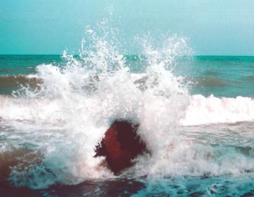 Bild 10. Findling und Wasser. 1995
