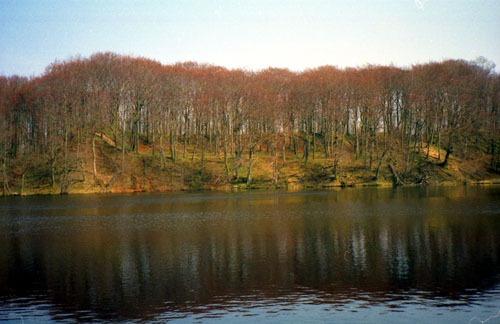 Hertha-See mit Burgwall 1998