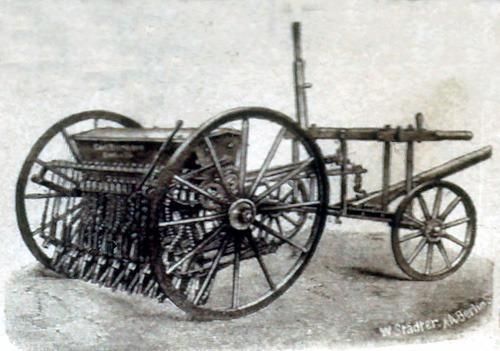 Bild 3. Schubrad-Drillmaschine um 1900. Reproduktion