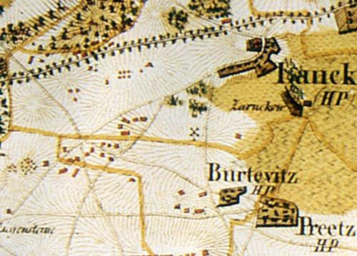 Bild 8. Karte Hagenow 1829  westl. von Lancken - Gr