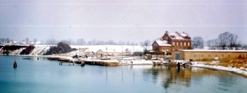 Anlegestelle des Trajektes 1974