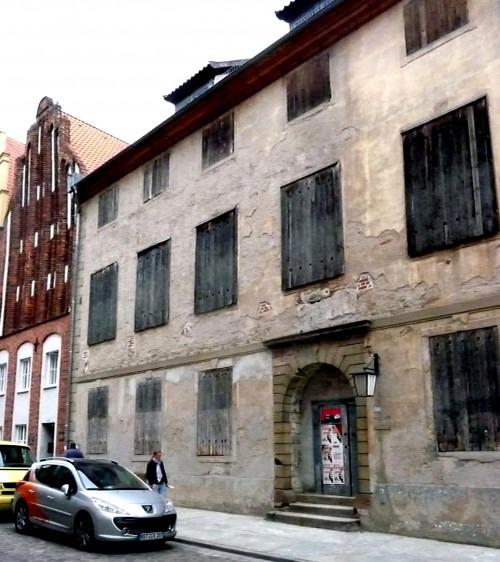Stralsund, Badenstraße 39. Das um 1700 erbaute Landständehaus. Hier tagte der Neuvorpommersche Kommunallandtag bis 1881.