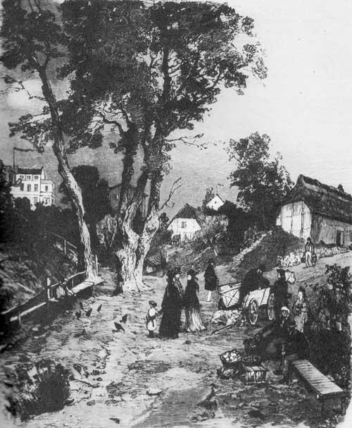 Sassnitz, historische Aufnahme ca.1850