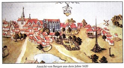Bild 3. 1620 Ortsansicht   Ewert 1993, S. 38