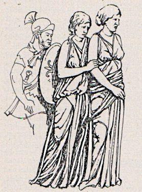 Abb. 15. Germanische Frauentracht Band 1 S. 388, Abb. 79