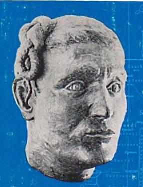Abb. 9. Rekonstruktion eines germanischen Kopfes.Titelblatt Band 1 1988