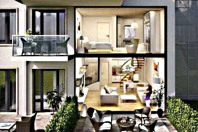 Abb. 5. Prora. Blick in eine Wohnung vom Typ Maisonette.