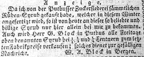 Abb. 5.  Putbusser Syrup
