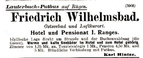 Abb. 6. Lauterbach. Werbung des Besitzers des Badehauses (Grieben Nr. 65, 1900)